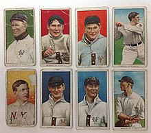 8 T206 New York Tobacco cards