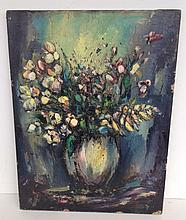 Early impressionist o/c floral still life unsigned