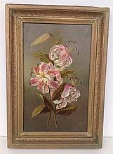 19th C. o/b floral still life unsigned