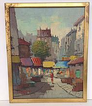 o/c Paris street scene signed P. Renard Paris