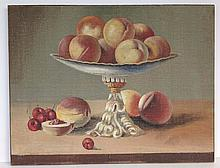 O/B Fruit still life with peaches and apples