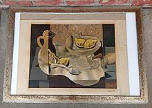 Signed George Braque fruit still life print