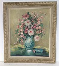Ea. O/C Floral still life signed M. Rice