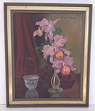 Eugene Speiecher O/C still life with flowers