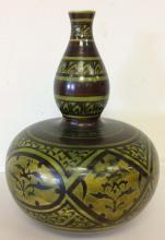 Asian pottery vase, origin unknown