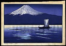 Lilian May Miller, Moonlight on Fujiyama, Japan