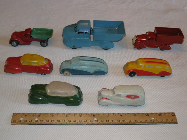 (8) Vint. Toy Cars & Trucks