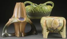 THREE PIECE GROUP OF AUSTRIAN ART POTTERY, CIRCA