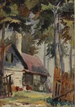 Lionel Wathall: Summer Cottage, Baily's Harbor, WI