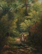 Mark Fisher: Lady and Child by the Creek