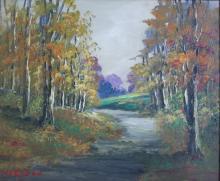 W.E. Eyden: Autumn Landscape with Road