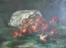 Unsigned: Still Life of Apples and Bananas