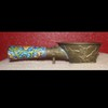 Antique Chinese Bronze ChampleveHandle Silk Flat Iron
