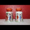 Gorgeous Pair of Salt and Pepper Shakers-Vintage Geisha-Japan