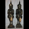 Thai Wood Gilt Carved Kinnari Guardians