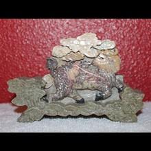 Vintage Soapstone Carving Fu Foo Dog Carving