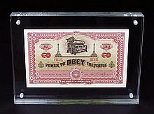 Shepard Fairey, Obey, Currency with COA