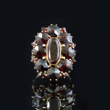 Garnet 14k Gold Ring