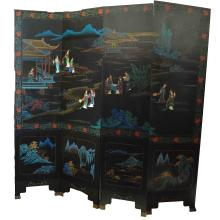 Chinese Four-Panels Hardwood Screen