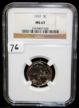 1937 BUFFALO NICKEL - NGC MS67