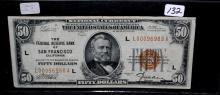 $50 NATIONAL CURRENCY SAN FRANCISCO SERIES 1929