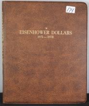 COMPLETE EISENHOWER DOLLAR SET - 1971 TO 1978