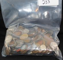 5 POUND BAG OF FOREIGN COINS