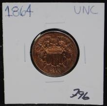 1864 (CIVIL WAR) 2 CENT PIECE
