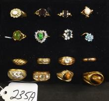 16 VINTAGE GOLD FILLED MEN & WOMENS RINGS
