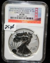 2012-S $1 SAN FRANCISCO EAGLE - EARLY RELEASE - NGC PF70