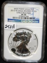 2013-2 $1 WEST POINT EAGLE - EARLY RELEASE - NGC PF70