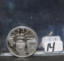 2000 $25 (1/4 OZ) .9995 PLATINUM COMM. COIN