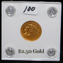 1909 $2 1/2 INDIAN GOLD COIN FROM SAFE DEPOSIT