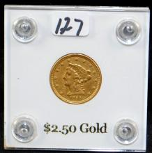 EARLY 1856 $2 1/2 LIBERTY GOLD COIN