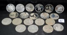 20 SILVER $1 COMMEMORATIVE COINS FROM SAFE DEPOSIT
