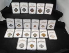 20 GRADED NGC FOREIGN COINS