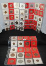 3 SHEETS OF FOREIGN COINS