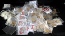 VINTAGE FRENCH, SWISS, HONG KONG, PHILL'S COINS