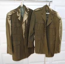 TWO U.S. MARINE CORPS UNIFORM TOPS
