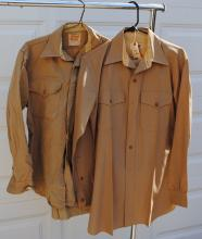 TWO U.S. MARINE CORPS SHIRT & TROUSERS