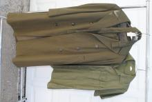 U.S. MARINE CORPS TRENCH COAT, PANTS & SHIRT