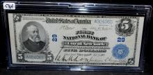 RARE $5 NATIONAL CURRENCY NOTE