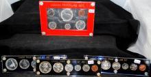 1961-1964-1966 & 1967 CANADA PROOF-LIKE SETS