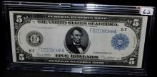 $5 FEDERAL RESERVE NOTE - LARGE SIZE - SERIES 1914