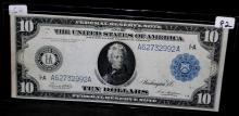 $10 FEDERAL RESERVE NOTE - LARGE SIZE - 1914