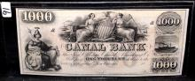 $1000 CANAL BANK NOTE - NEW ORLEANS