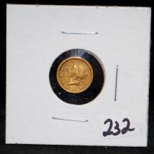 EARLY 1853 TYPE 1 $1 GOLD COIN FROM SAFE DEPOSIT
