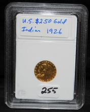 1926 $2 1/2 INDIAN GOLD COIN FROM SAFE DEPOSIT