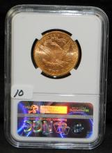 SCARCE 1883 $10 LIBERTY GOLD COIN - NGC MS63