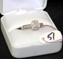 LADIES 14K HALO MOUNTING DIAMOND RING